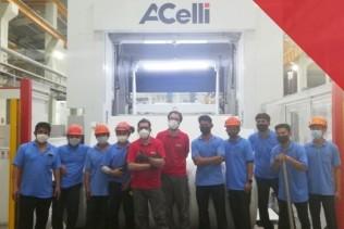 A.Celli starts up the E-WIND® T100 rewinder supplied to Berli Jucker Cellox Co., Ltd.