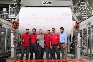 Successful start-up of the Yibin Paper TM2-iDEAL® Tissue Machine