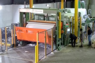 Hygienic Tissue Mills fired up a new TT WIND-P tissue rewinder supplied by Toscotec