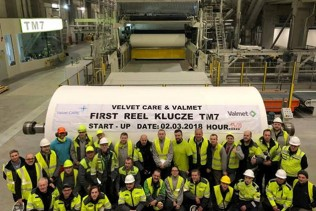 Valmet Advantage DCT tissue production line successfully started up at Velvet CARE's mill in Poland